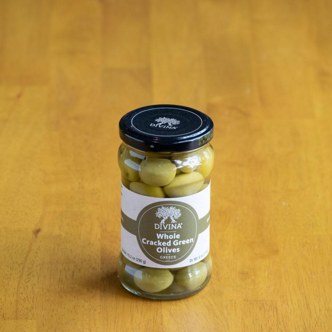 Divina Cracked Green Olives